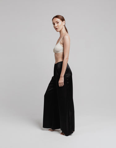 Silk Lounge Pant - Black