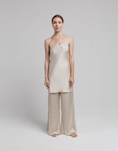 Silk Mini Slip - Almond