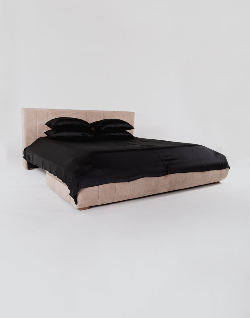 Silk Coverlet - Black