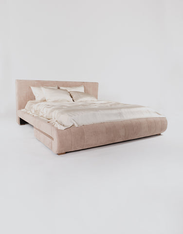 Silk Coverlet - Almond