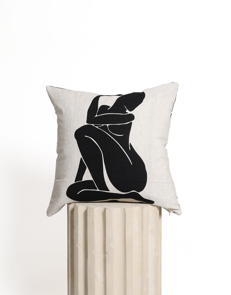 Le Femme Cushion Cover - Black