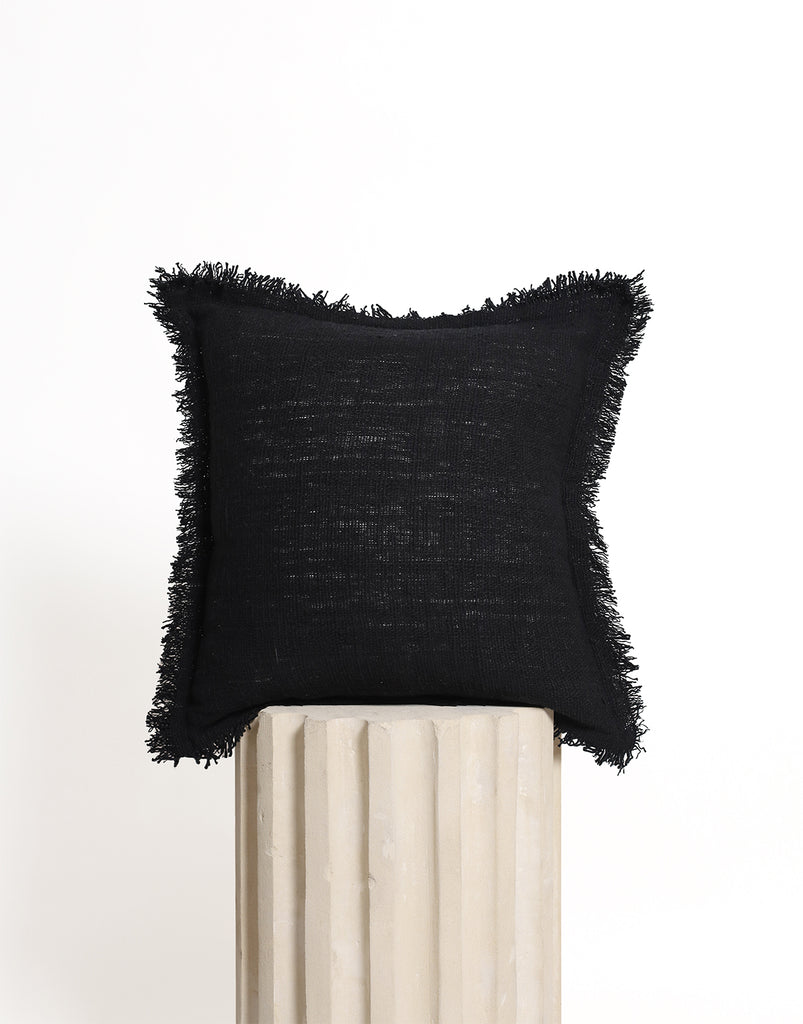 Luxe Cushion Cover - Black