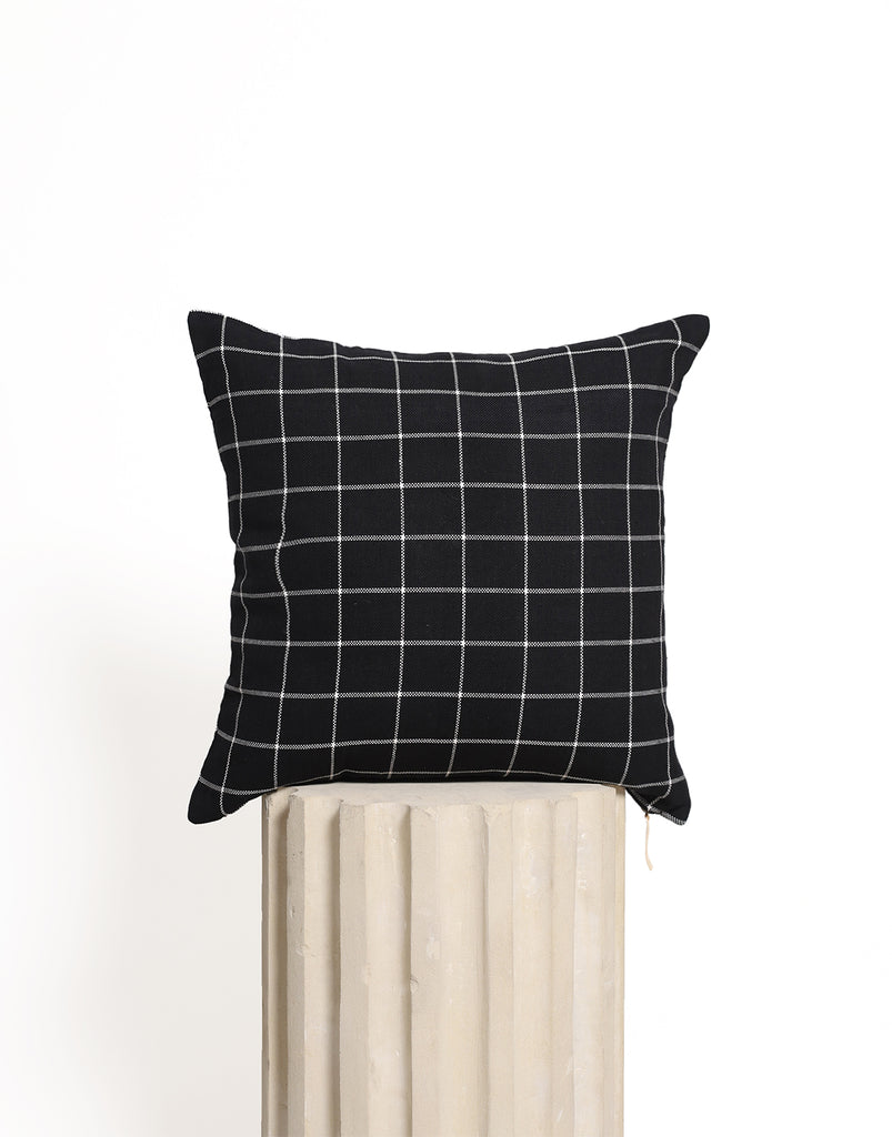 Sleep Tight Cushion Cover - Black Checkered