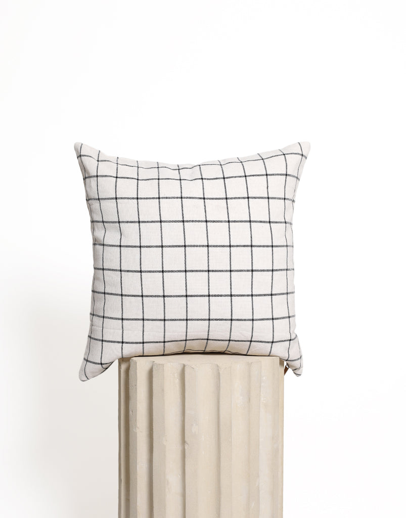 Sleep Tight Cushion Cover - Natural Checkered