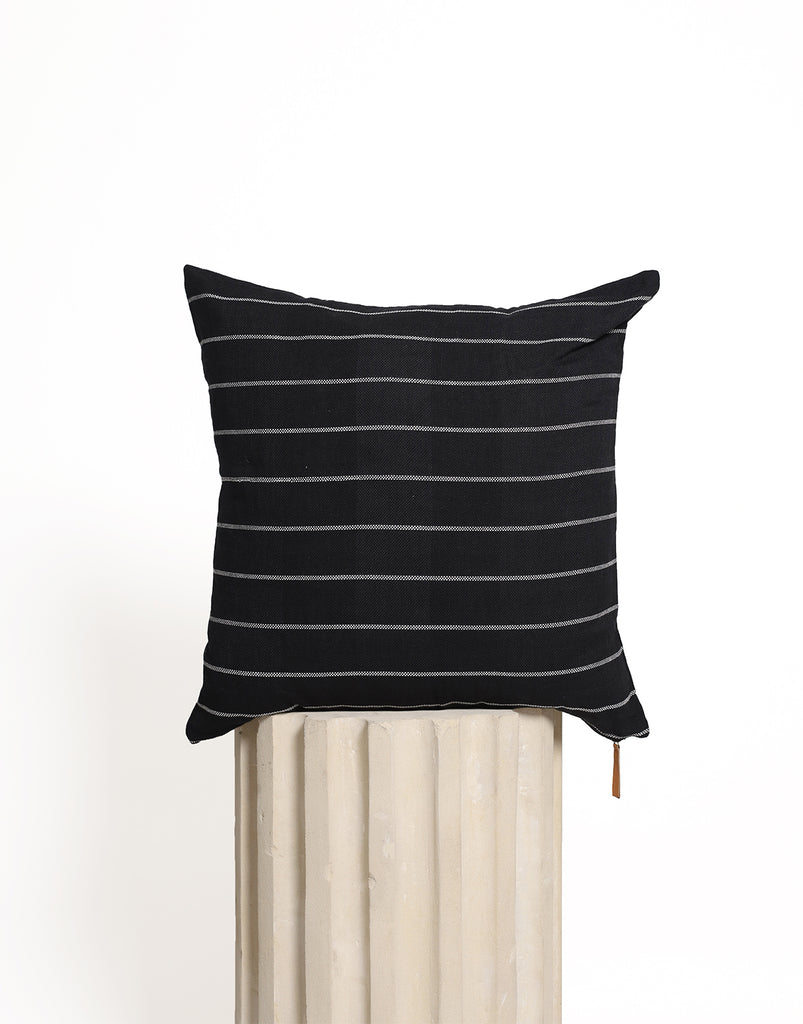 Sleep Tight Cushion Cover - Black Stripe