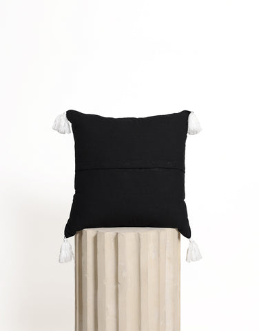 Tassel Cushion Cover - Black