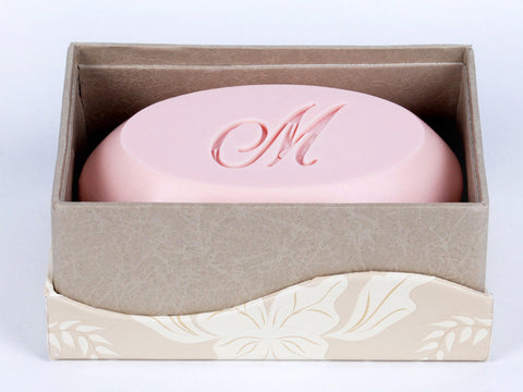 Signature Scented Bar Soap Personalized with a Single Initial - 1 Bar Box