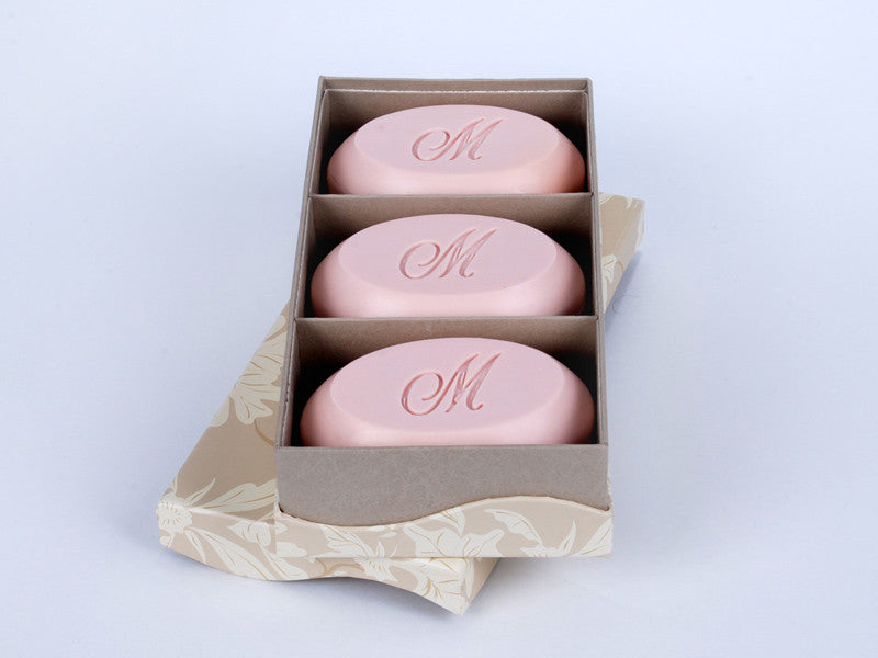 6.5 oz Signarture Bar Soap - Trio Bar Box - Personalized Scented Soaps - Single Initial