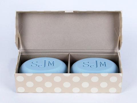 Signature Scented Bar Soap Personalized with a Monogram - 2 Bar Box