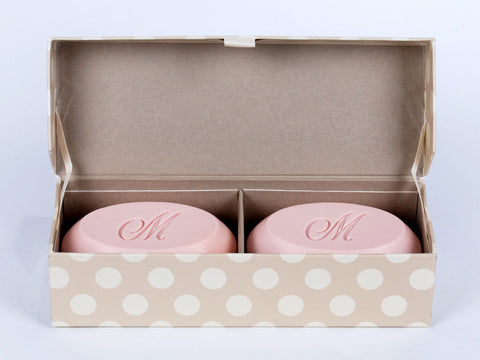 Signature Scented Bar Soap Personalized with a Single Initial - 2 Bar Box