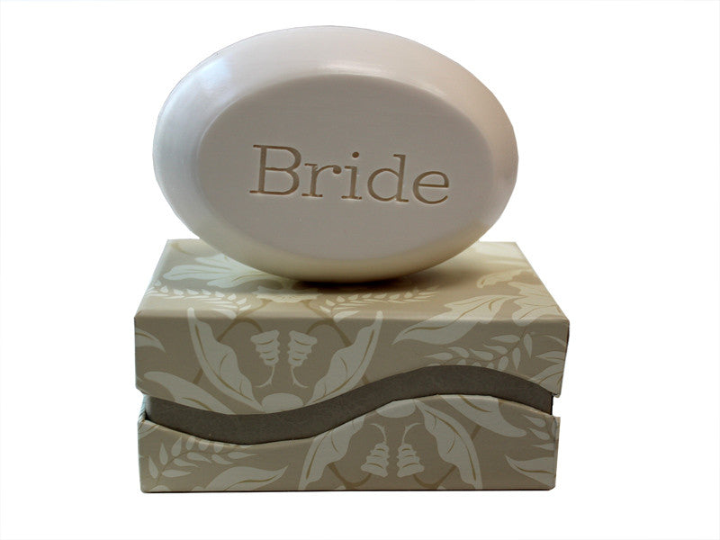 Personalized Scented Soap Bar Engraved with Bride Scented Soap Bar - Single Bar Box