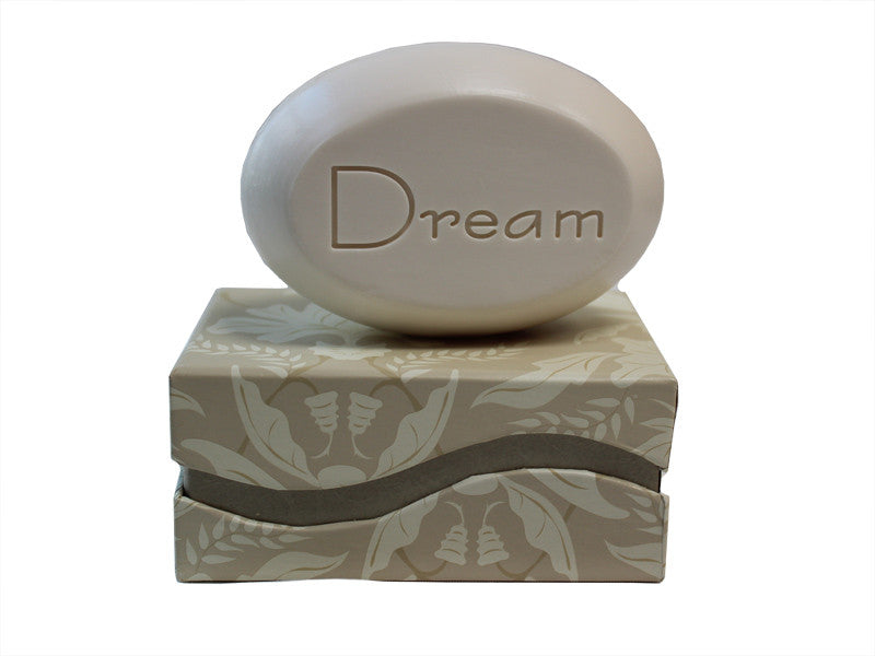 Personalized Scented Soap Bar Engraved with Dream Scented Soap Bar - Single Bar Box
