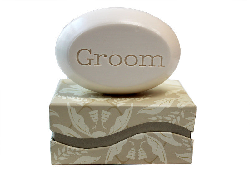 Personalized Scented Soap Bar Engraved with Groom Scented Soap Bar - Single Bar Box