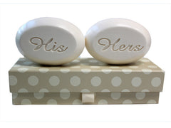 Personalized Scented Soap Bar Engraved with His & Hers Scented Soap Bar - Duo Bar Box