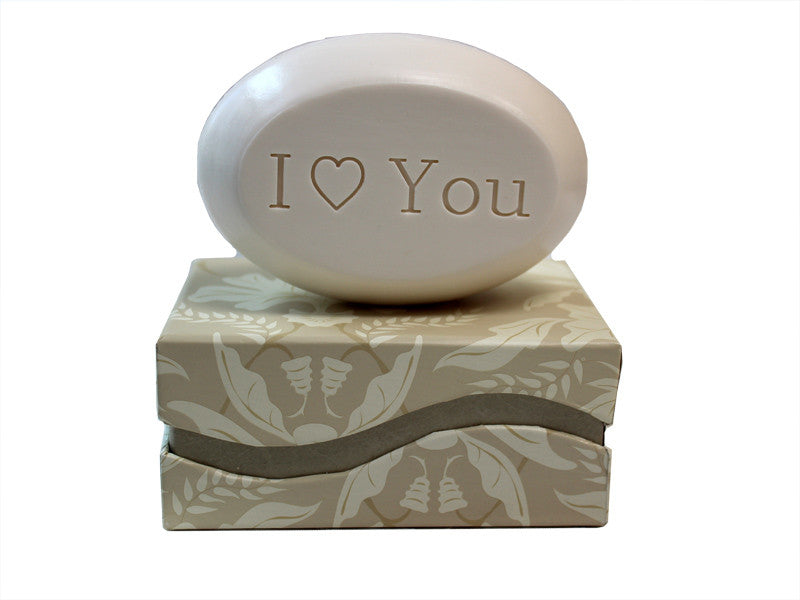 Personalized Scented Soap Bar Engraved with I Love You Scented Soap Bar - Single Bar Box