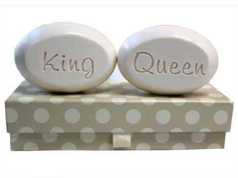 Personalized Soap Sentiments - King & Queen