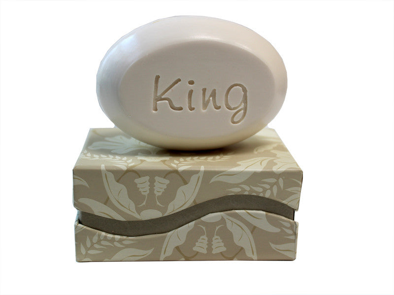 Personalized Scented Soap Bar Engraved with King Scented Soap Bar - Single Bar Box