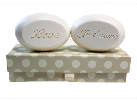 Personalized Soap Sentiments - Love & Je t'aime