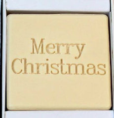 Merry Christmas Personalized Scented Guest Soap & Hand Towel Holiday Gift Set