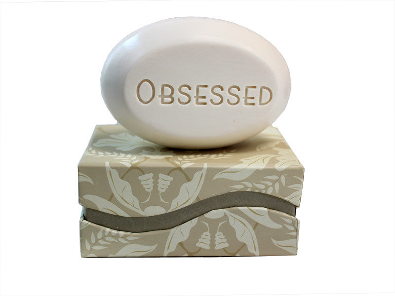 Personalized Scented Soap Bar Engraved with Obsessed Scented Soap Bar - Single Bar Box