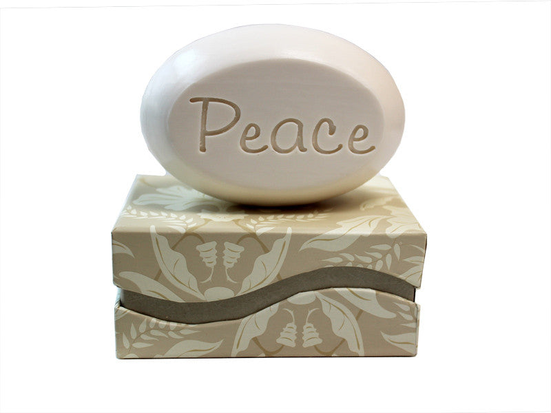 Personalized Scented Soap Bar Engraved with Peace Scented Soap Bar - Single Bar Box