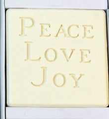 Peace Love Joy Personalized Scented Guest Soap & Hand Towel Holiday Gift Set