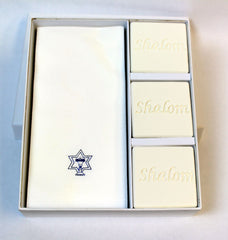 Shalom Personalized Scented Guest Soap & Hand Towel Holiday Gift Set