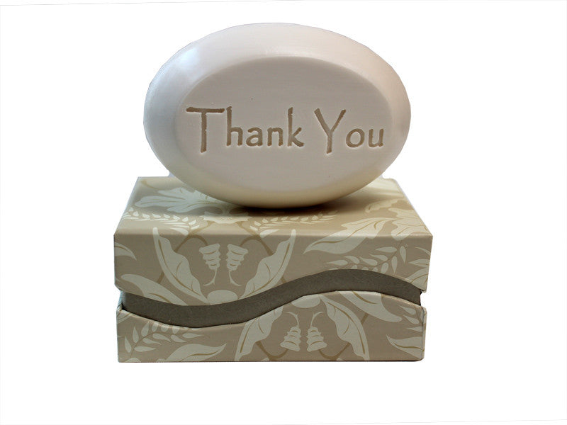 Personalized Scented Soap Bar Engraved with Thank You Scented Soap Bar - Single Bar Box