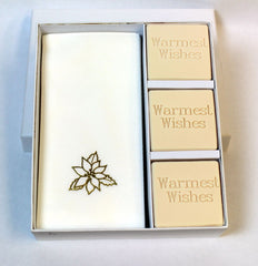 Warmest Wishes Personalized Scented Guest Soap & Hand Towel Holiday Gift Set