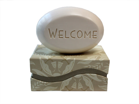 Personalized Soap Sentiments - Welcome