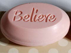 Breast Cancer Awareness Signature engraved scented soap bars engraved with