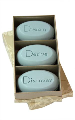 Personalized Soap Sentiments - Dream Desire Discover