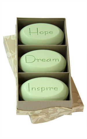 Personalized Soap Sentiments - Hope Dream Inspire