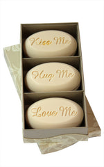 Personalized Scented Soap Bar Engraved with Rest Relax Retire. Scented Soap Bar - Trio Bar Box
