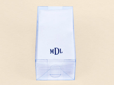 144 Count Nature's Linen Disposable Guest Hand Towels Personalized with a Monogram