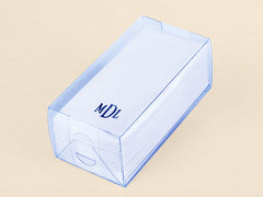 Personalize 36 Linen Like (paper) Disposable Guest Hand Towels. Packed in an acetate box this 36 count disposable hand towels is monogrammed.