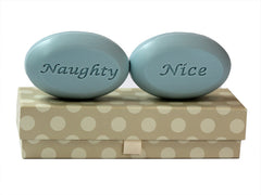 Personalized Scented Soap Bar Engraved with Naughty - Nice Scented Soap Bar - Duo Bar Box