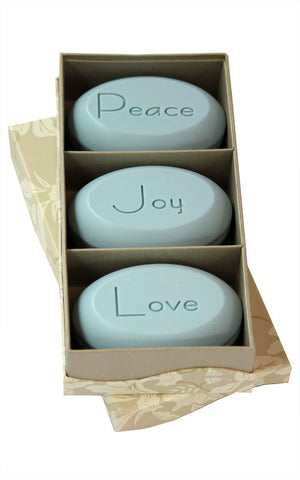 Personalized Soap Sentiments - Peace Love Joy