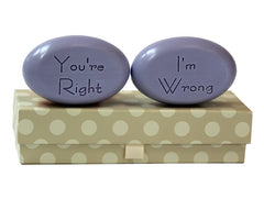 Personalized Scented Soap Bar Engraved with Your Right I'm Wrong Scented Soap Bar - Duo Bar Box
