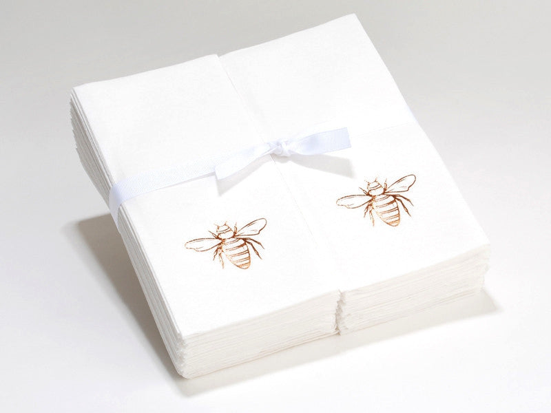 Personalized Linen Like (paper) Guest Hand Towels - 200 Bulk Towels with a Ribbon - personalized and etched with a Graphic