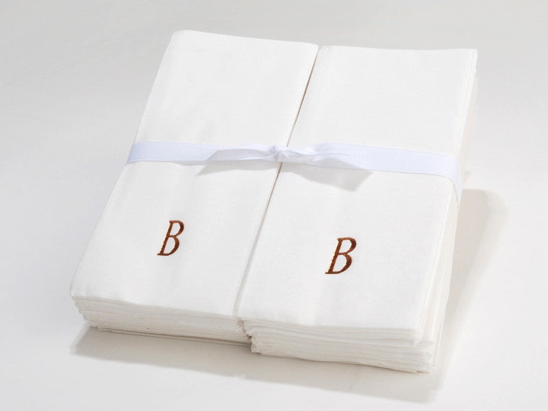 Personalized Linen Like Paper Disposable Guest Hand