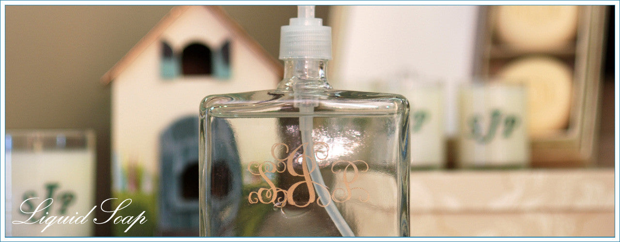 Personalized & Monogrammed Scented Liquid Hand Soap Dispensers