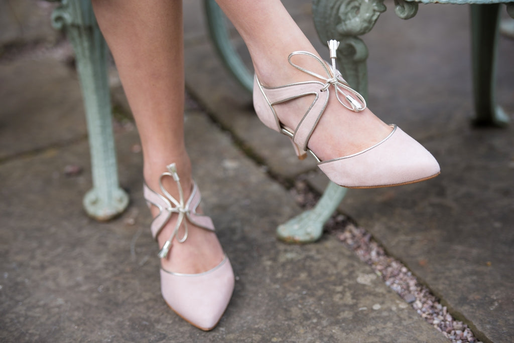 stylish wide fitting blush pink shoes