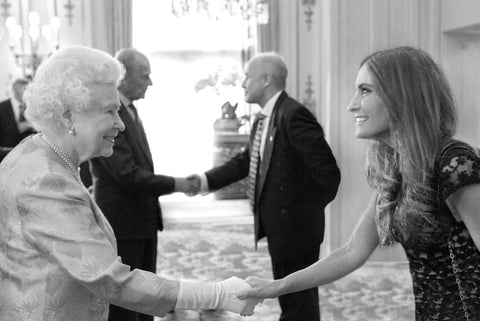 Cecile renauld meeting HM the Queen