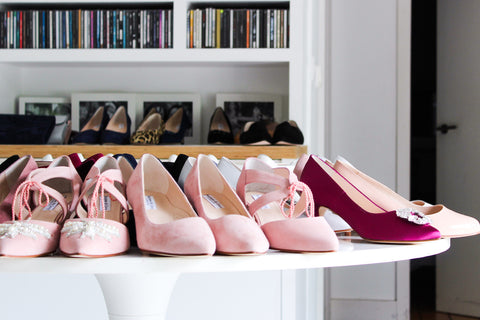 Pink wide fitting shoes