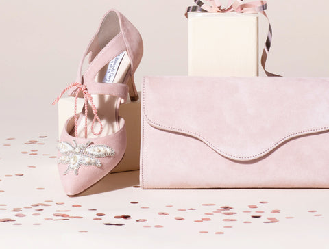 Wide fitting occasion shoes and matching bags
