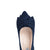 Camilla Wide Fit Block Heel Court Shoes - Navy Suede