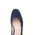 Grace Wide Fit Block Heel Pumps – Navy Suede With Scallop Edge