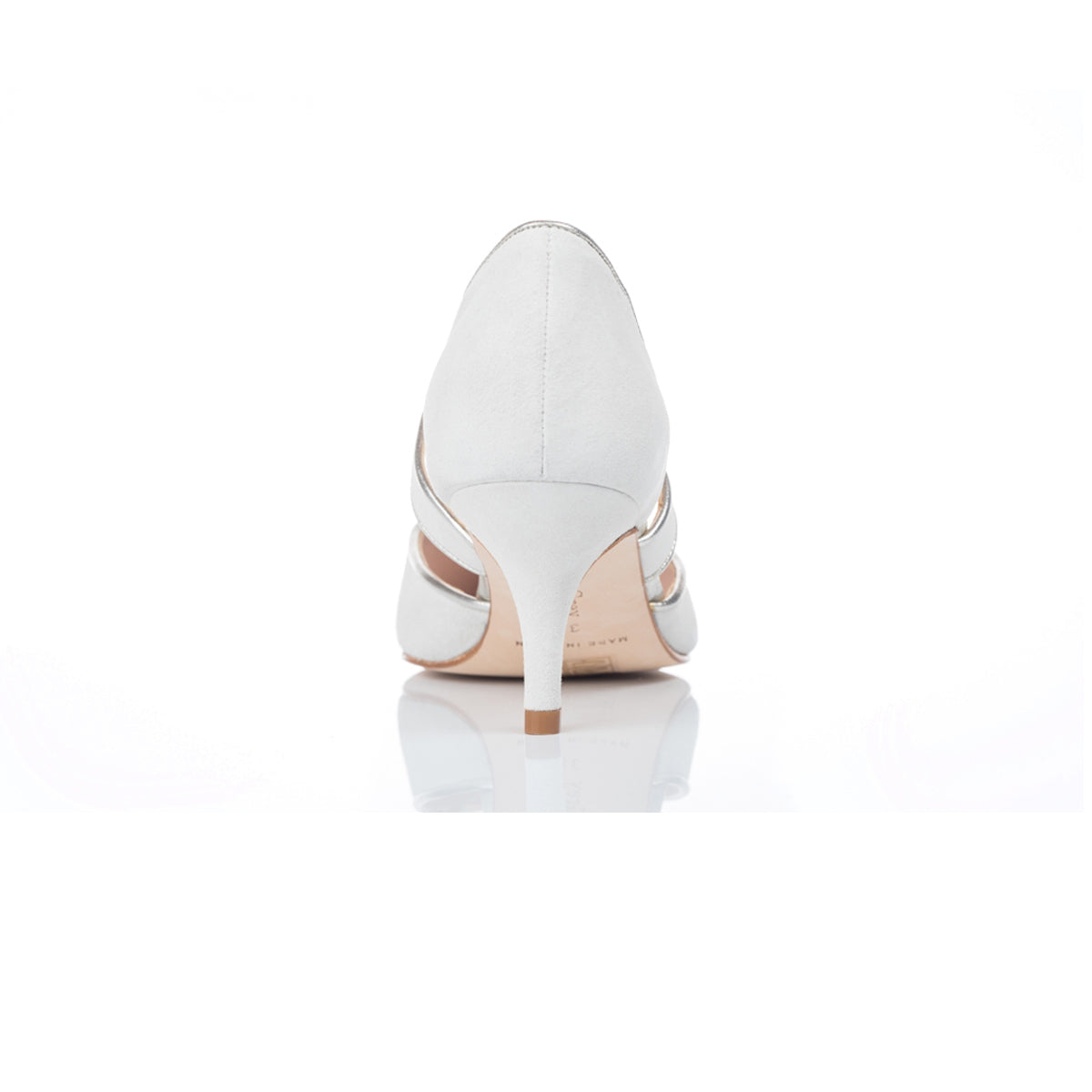 Wide Fit Ivory Suede Wedding Shoes With