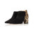 Hero Wide Fit Boots - Black Suede and Leopard Print